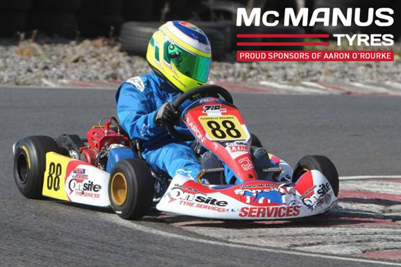 McManus Tyres, Dundalk proudly sponsors Aaron O'Rourke